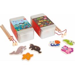Joc de pescuit magnetic, Set de 2 cutii