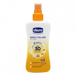 Spray Chicco protectie solara dermopediatrica, SPF 30+, 150ml, 0 luni+
