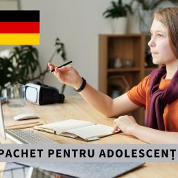 CURS INDIVIDUAL ONLINE DE LIMBA GERMANĂ PENTRU ADOLESCENȚI Pachet 10 şedinţe