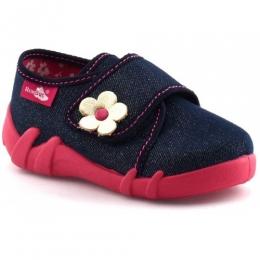 Pantofi Fetite, Rosu Albastru , inchidere velcro, marca RenBut