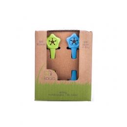 Set suport de prindere baveta, eKoala, Blue/Green