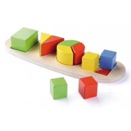 Set de invatare cu 4 forme din lemn