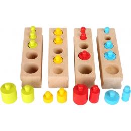 Joc cilindri colorati Montessori