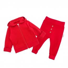 Set din lana merinos extrafina Red