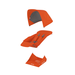 Set Materiale Textile Greentom Reversible, Orange