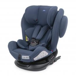 Scaun auto copii Chicco rotativ cu isofix Unico Plus, grupa 0+/1/2/3, india ink (albastru) 0luni+