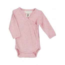 Body bebelusi, din bumbac organic, cu model blush rosa