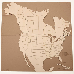 Puzzle Harta –America de Nord