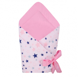 Port bebe textil transformabil in salteluta de joaca, Pink Stars