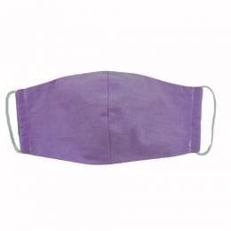 Masca faciala din bumbac reutilizabila 2 straturi Mov 1 - set 2 buc