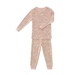 Set pijama pentru fetite, din bumbac organic, model Forest