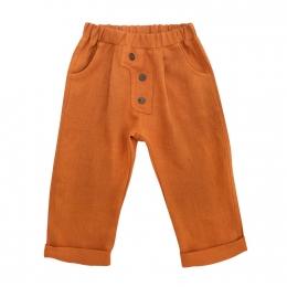 Pantaloni din in organic Rust