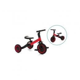 Tricicleta transformabila in bicicleta fara pedale red-black Fillikid