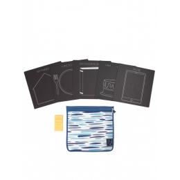 Set 5 planse reutilizabile, 4 ButterStix® si husa cu fermoar - Bored Board Set - Selfie - Jaq Jaq Bird
