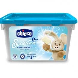 Chicco Detergent hipoalergenic pt haine , capsule cu gel , 16 buc , 0luni+