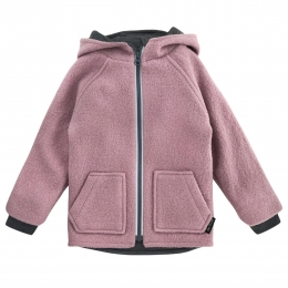 Jacheta dublata din lana fiarta Rose Quartz