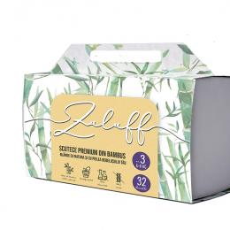 Zuluff scutec premium din bambus cu fibre 100% naturale - Marimea 3, Quattro 128 bucati