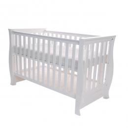 Patut pentru bebelusi din lemn masiv, 120x60 cm, Dona Lux white