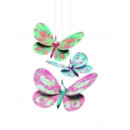 Decoratie camera copil fluturi sclipitori