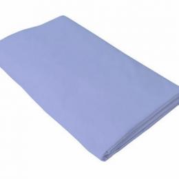 Cearceaf albastru Kidsdecor cu elastic patut copii 80x160 cm