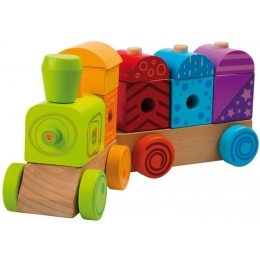 Trenulet multicolor cu sunete si lumina