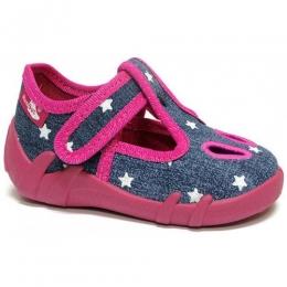 Sandale Fetite, Albastru Roz, inchidere velcro, marca RenBut