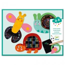 Set creativ de razuit Djeco, Animale amuzante