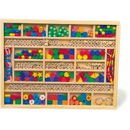 Creeaza-ti propriile bijuterii si decoratiuni din lemn -set de insiruit