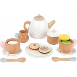 Set cadou pentru ceai si cafea cu accesorii, din lemn