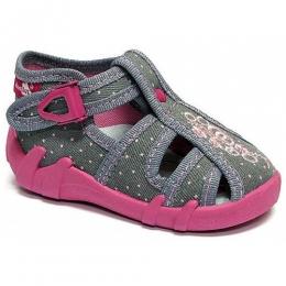 Sandale Fetite, Gri Roz, marca RenBut, inchidere catarama