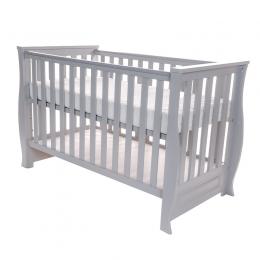 Patut pentru bebelusi din lemn masiv, 120x60 cm, Dona Lux grey