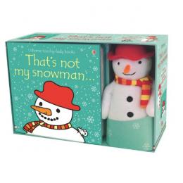 Usborne That's not my snowman - pachet cu carticica si jucarie