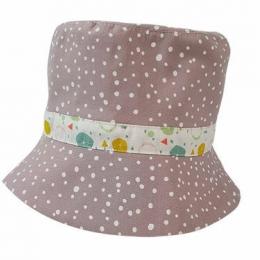 Palarie subtire roz-gri de vara pentru copii 1-3 ani KidsDecor 50 cm