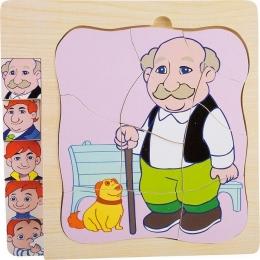 Puzzle in straturi Viata Bunicului