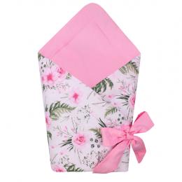Port bebe textil transformabil in salteluta de joaca, Pink Flowers