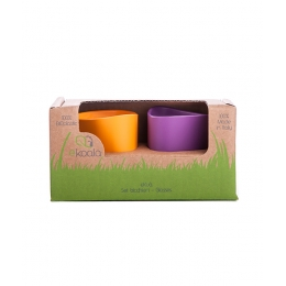 Set 2 pahare, eKoala, BIOplastic, Orange/Purple