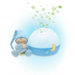 Jucarie Chicco lampa cu proiectie Primele Vise Noapte buna, stelute!, Bleu, 0luni+