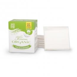 Absorbante de zi din bumbac organic biodegradabile 10 buc (3 picaturi)