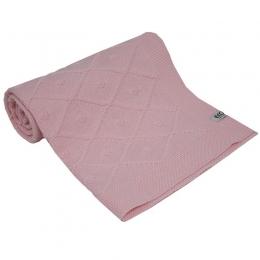 Paturica din Bumbac, Eko, 80x100 cm, Carouri, Pink