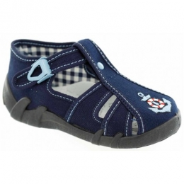 Sandale Baietei, Albastru, marca RenBut, inchidere catarama