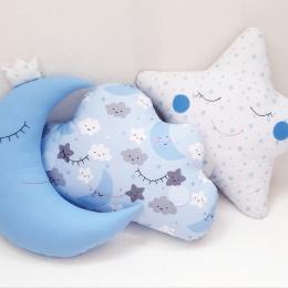 Set 3 perne decorative blue