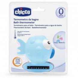 Termometru de baie Chicco, forma de peste, Blue, 0luni+