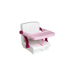 Inaltator scaun de masa portabil white, tender rose, silver KidsKit