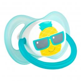 "Suzeta ""So Cool"" cu tetina simetrica silicon, Canpol babies, fara BPA, 18 luni+, turcoaz"