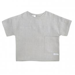 Tricou din in organic Silver Grey