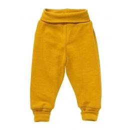 Pantaloni lana si matase, mustar