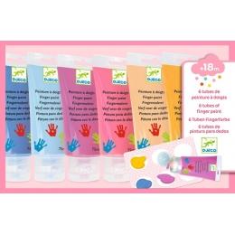 6 culori Sweet de pictat cu mana Djeco