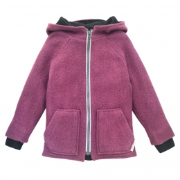 Jacheta dublata din lana fiarta Dusty Pink