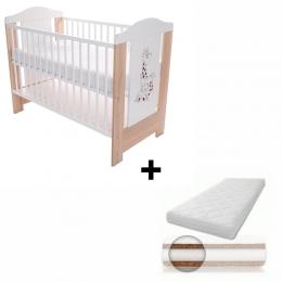 Patut pentru bebelusi, 120x60 cm, Gigi + Saltea Cocos