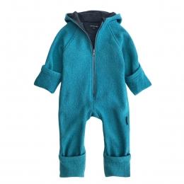 Overall dublat din lana fiarta Teal Turquoise